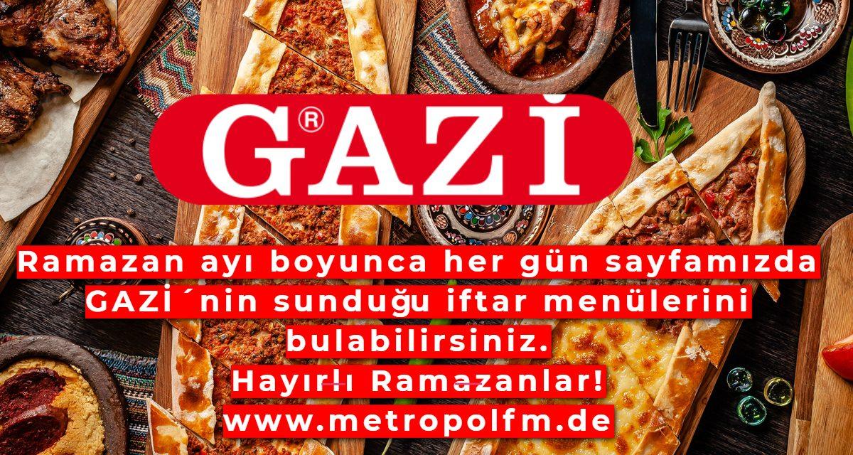 GAZI sunar: Ramazan Iftar Menüsü! Ramazan ayı boyunca lezzet dolu iftar menüleri sizi bekliyor. Özenle hazırlanmış iftar menüleri GAZİ tarafından sunuluyor.