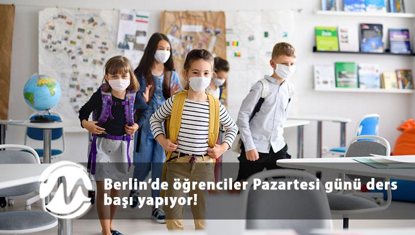 Berlin'de öğrenciler Pazartesi günü ders başı yapıyor