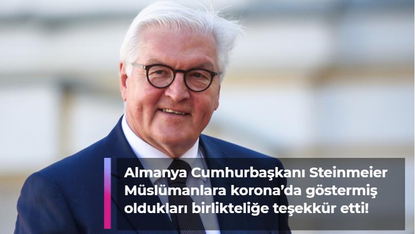 Cumhurbaşkanı Frank-Walter Steinmeier, Müslümanların bayramını kutladı