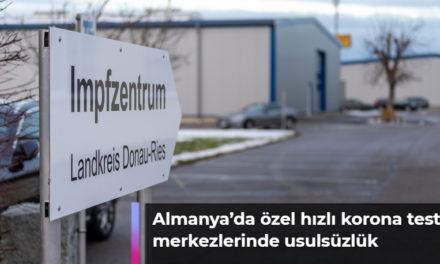 Almanya'da özel hızlı korona test merkezlerinde usulsüzlük