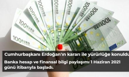 Türkiye, Almanya'da yaşayan Türklerin banka hesapları Alman Maliye'sine bildiriyor.