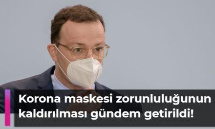 Korona maskesi zorunluluğunun aşamalı kaldırılması gündem getirildi