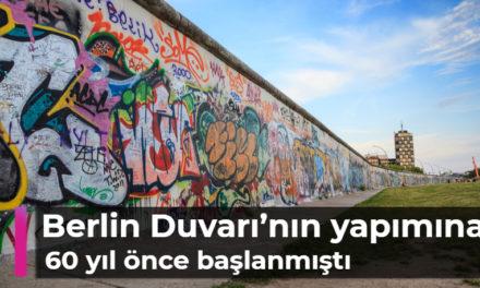 Berlin Duvarı'nın yapımına 60 yıl önce başlanmıştı