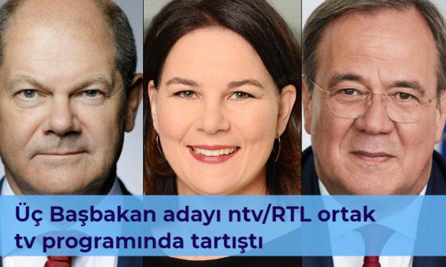 Almanya genel seçimlerin yaklaşık 4 hafta kaldı, üç başbakan adayı ntv/RTL ortak tv programında tartıştı