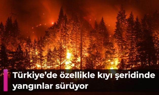 Türkiye'de özellikle kıyı şeridinde yangınlar sürüyor