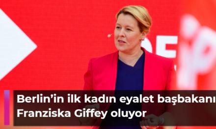 Pazar günkü eyalet meclisi seçimleri sonrası Berlin'in ilk kadın eyalet başbakanı Franziska Giffey oluyor