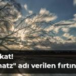 Rüzgar Almanya'yı aşağıdan yukarıya doğru süpürüyor  – www.bahn.de/service/fahrplaene/aktuell